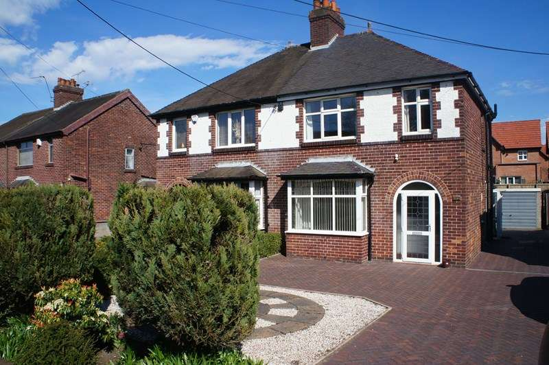 3 Bedrooms Semi Detached House for sale in Congleton Road North, Scholar Green