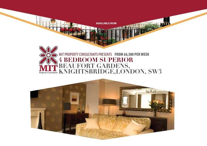 4 Bedrooms Apartment Flat for rent in Beaufort Gardens, Knightsbridge