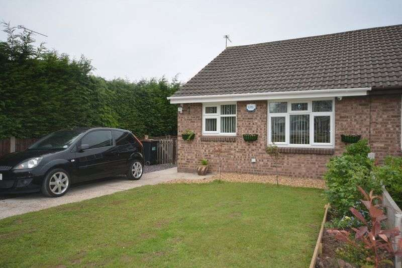 2 Bedrooms Semi Detached Bungalow for sale in Bradfield Road, Crewe