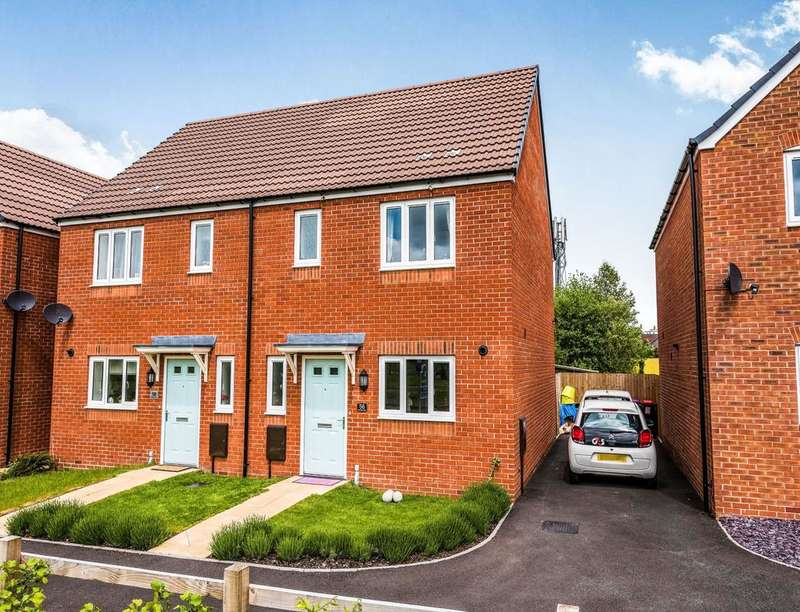 3 Bedrooms Semi Detached House for sale in Brambles Walk, Wellington, Telford, TF1