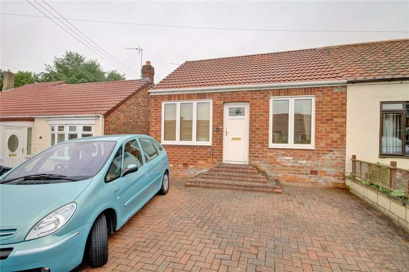 2 Bedrooms Semi Detached Bungalow for sale in Glebe Villas, West Cornforth, Ferryhill, DL17