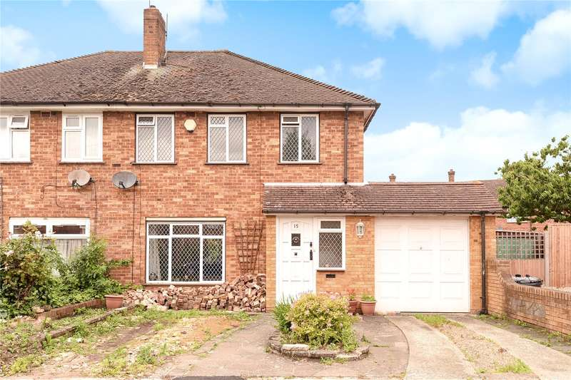 3 Bedrooms Semi Detached House for sale in Evelyns Close, Hillingdon, Middlesex, UB8
