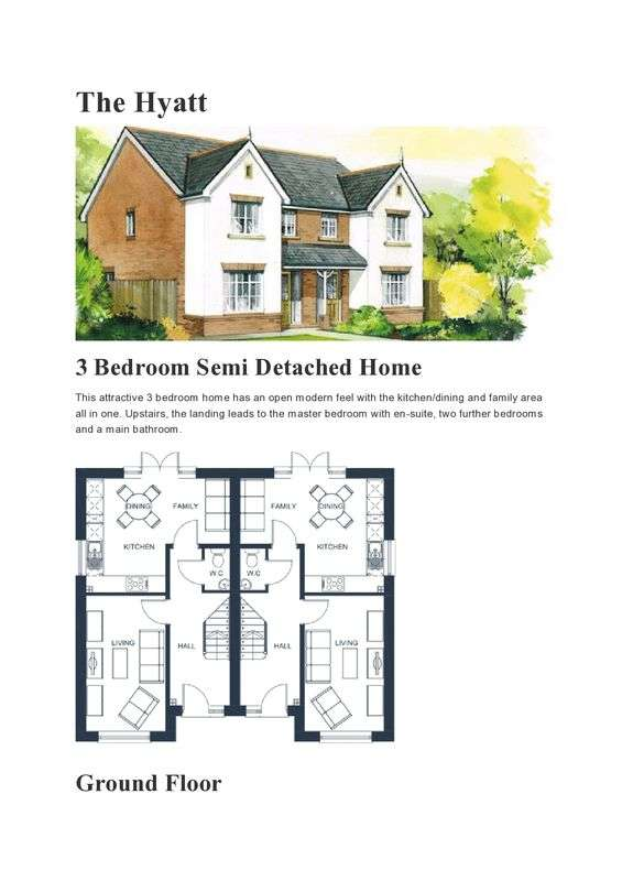 3 Bedrooms Semi Detached House for sale in Plot 5 - The Hyatt, Highfields, Tonyrefail