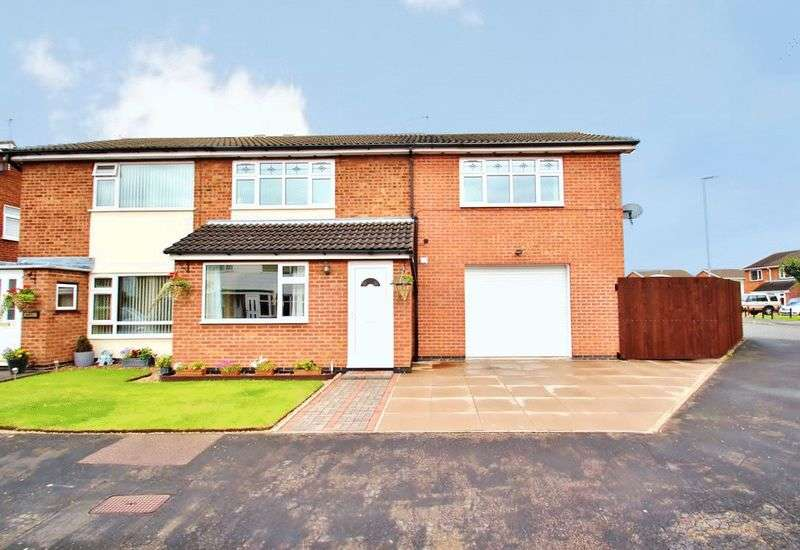 4 Bedrooms Semi Detached House for sale in Plumtree Way, Syston, Leicestershire
