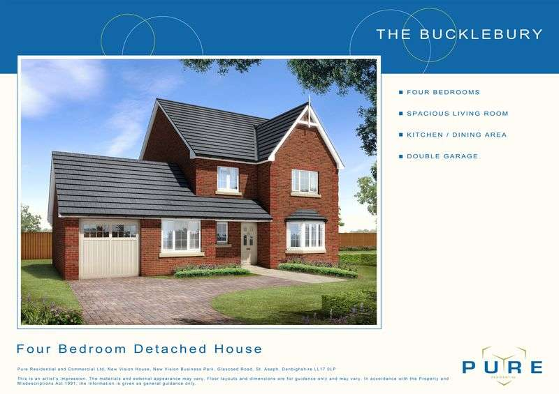 4 Bedrooms Detached House for sale in Plot 14, Dol Hyfryd, Ruthin Road, Denbigh