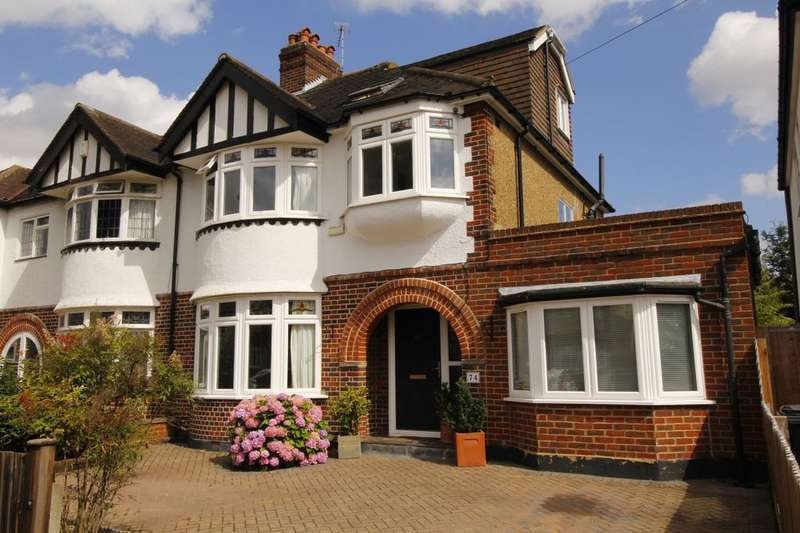4 Bedrooms Semi Detached House for sale in Queens Drive, Surbiton, KT5