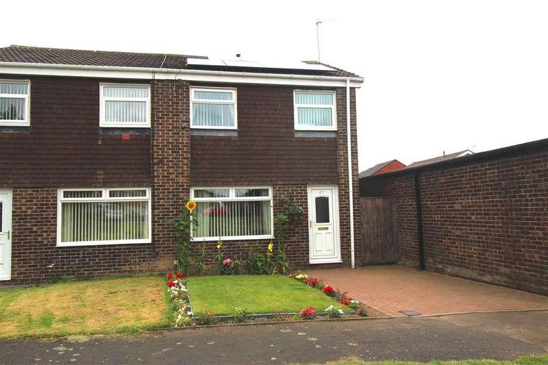 3 Bedrooms Semi Detached House for sale in Bamborough Court, Dudley, Cramlington