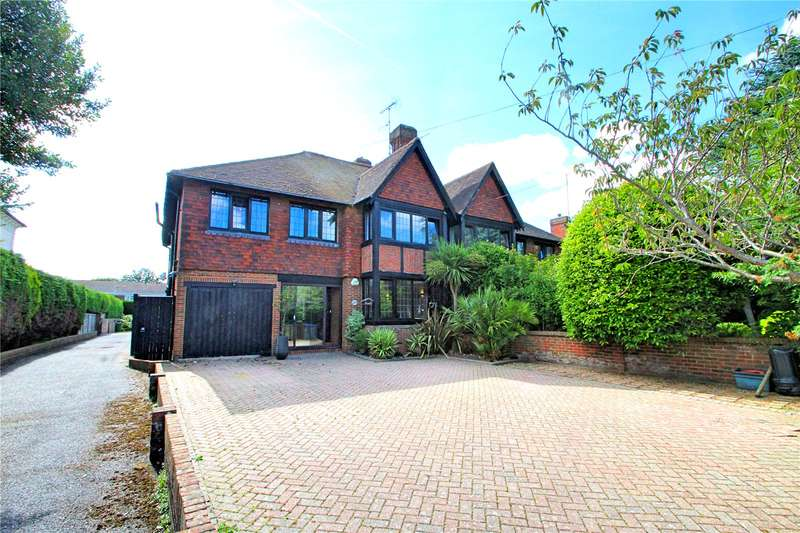 4 Bedrooms Semi Detached House for sale in Downview Road, Worthing, West Sussex, BN11