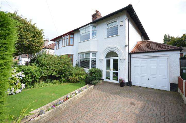 3 Bedrooms Semi Detached House for sale in Hollytree Road, Woolton, Liverpool, L25