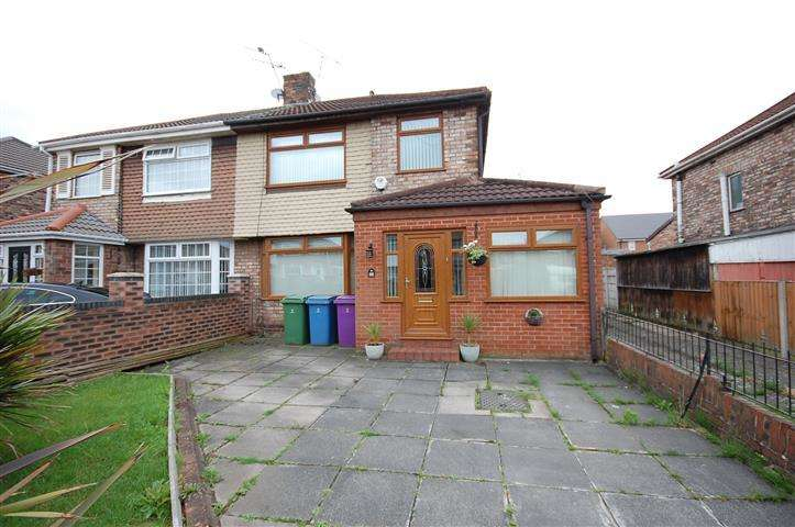 3 Bedrooms Semi Detached House for sale in Barford Road, Hunts Cross, Liverpool, L25
