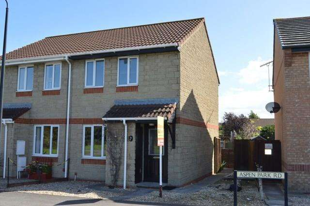 2 Bedrooms Semi Detached House for sale in Aspen Park Road, Locking Castle, Weston-super-Mare