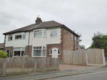 3 Bedrooms Semi Detached House for sale in Brian Avenue, Stockton Heath, Warrington, Cheshire, WA4