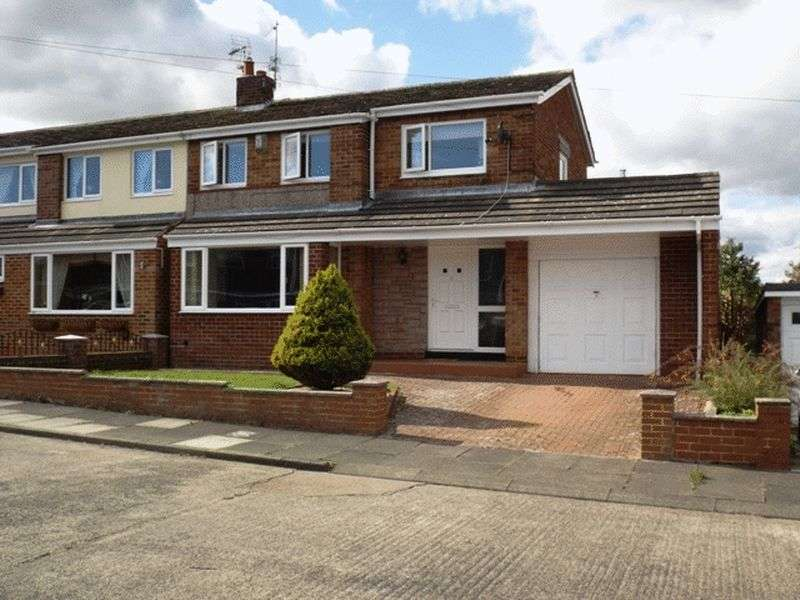 3 Bedrooms Semi Detached House for sale in Lindisfarne Lane, Morpeth - Three Bedroom Semi Detached House