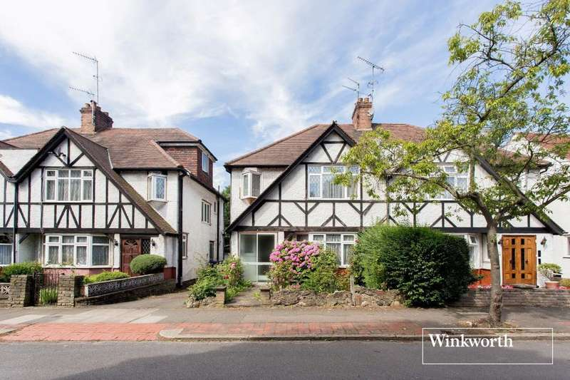 3 Bedrooms Semi Detached House for sale in Broughton Avenue, Finchley, London, N3
