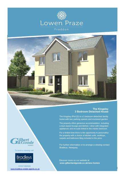 3 Bedrooms Detached House for sale in Lowen Praze, Fraddon, St. Columb, Cornwall