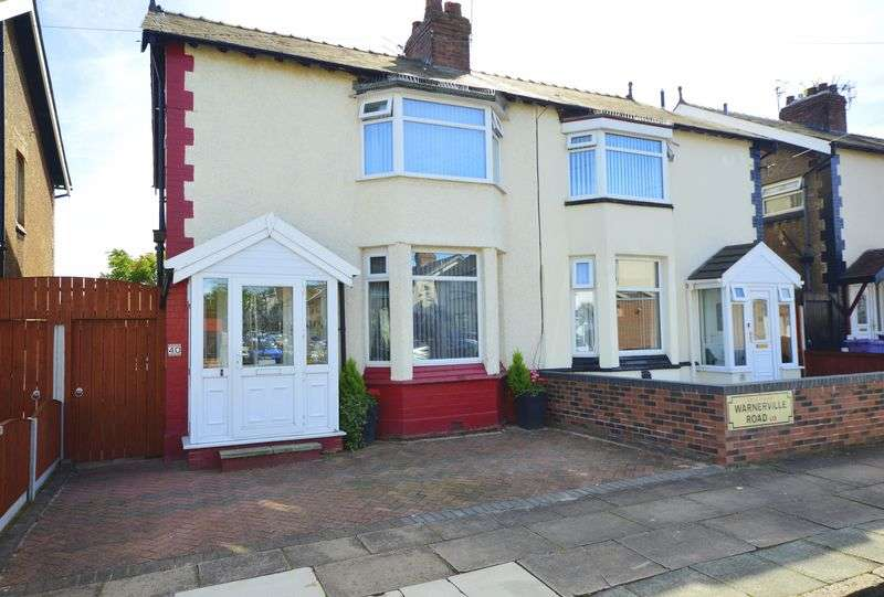 3 Bedrooms Semi Detached House for sale in Warnerville Road, Liverpool