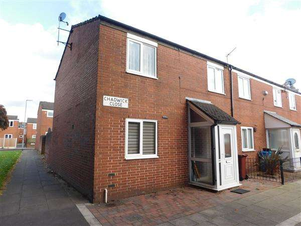 3 Bedrooms End Of Terrace House for sale in Chadwick Close, Manchester