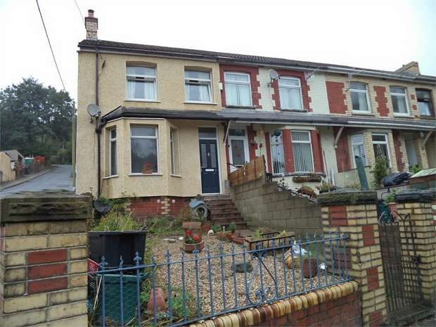 3 Bedrooms End Of Terrace House for sale in Llwynon Road, Six Bells, ABERTILLERY, Blaenau Gwent, United Kingdom