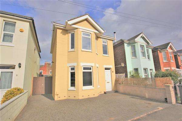 3 Bedrooms Detached House for sale in Hannington Road, Bournemouth