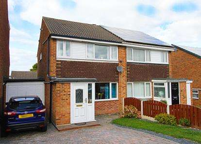 3 Bedrooms Semi Detached House for sale in Laburnum Grove, Killamarsh, Sheffield, Derbyshire