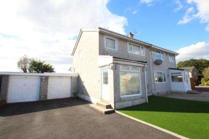 4 Bedrooms Semi Detached House for sale in Glenview Crescent, Moodiesburn, Glasgow, North Lanarkshire