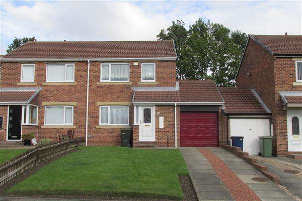 3 Bedrooms Semi Detached House for sale in Milecastle Court, Newcastle upon Tyne