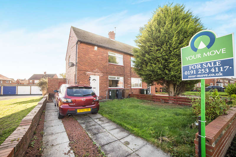 2 Bedrooms Semi Detached House for sale in Brenkley Avenue, Shiremoor, Newcastle Upon Tyne, NE27