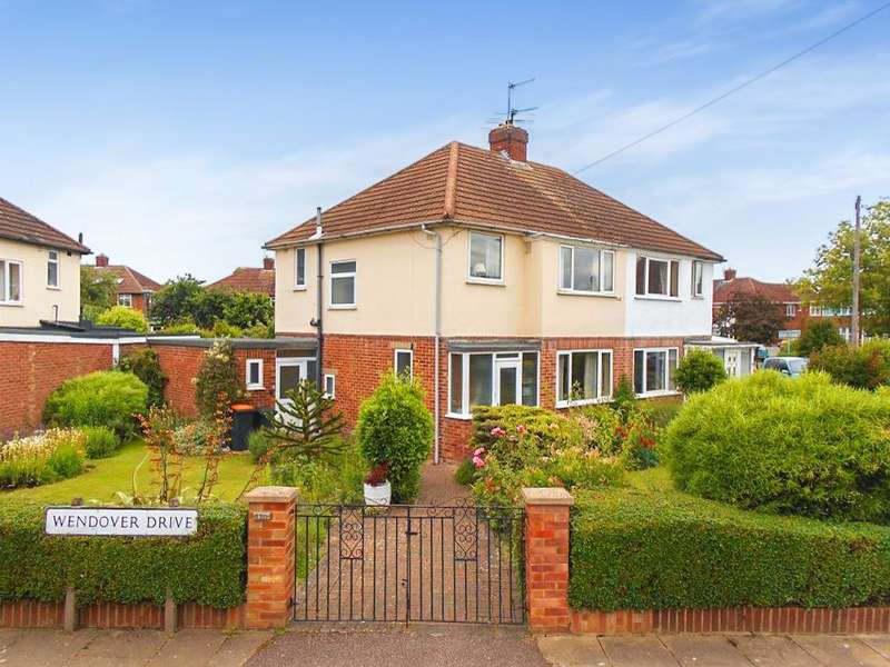 3 Bedrooms Semi Detached House for sale in Wendover Drive, Bedford, Bedfordshire, MK41 9QU