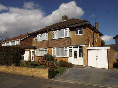 3 Bedrooms Semi Detached House for sale in Langford Drive, Luton, Bedfordshire