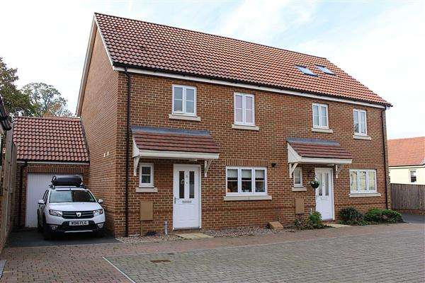 3 Bedrooms Semi Detached House for sale in Underhay Close, Dawlish