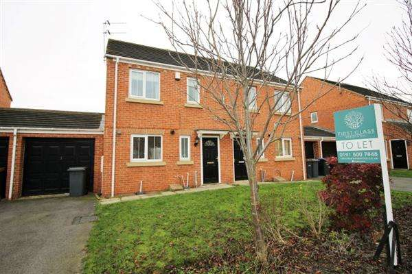 3 Bedrooms Semi Detached House for sale in Ivyway, Pelton, Chester le Street