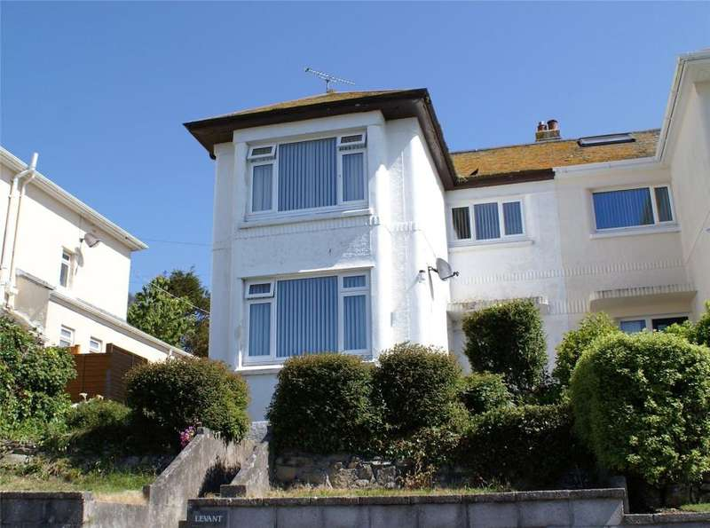 3 Bedrooms Semi Detached House for sale in Harbour View Crescent, Penzance, Cornwall