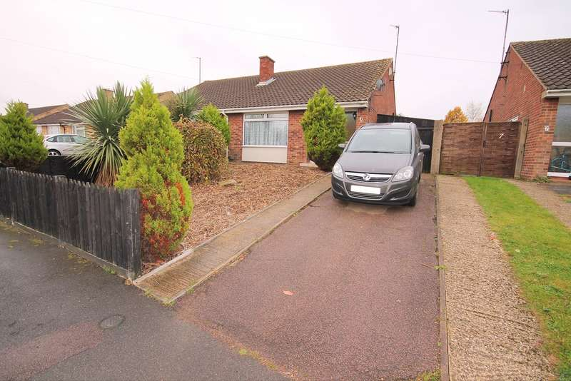 4 Bedrooms Semi Detached Bungalow for sale in Cotswold Close, Putnoe, Bedford, MK41