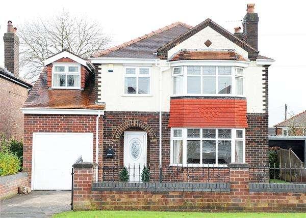 4 Bedrooms Detached House for sale in 76 Glazebrook Lane, Glazebrook, WA3 5BJ