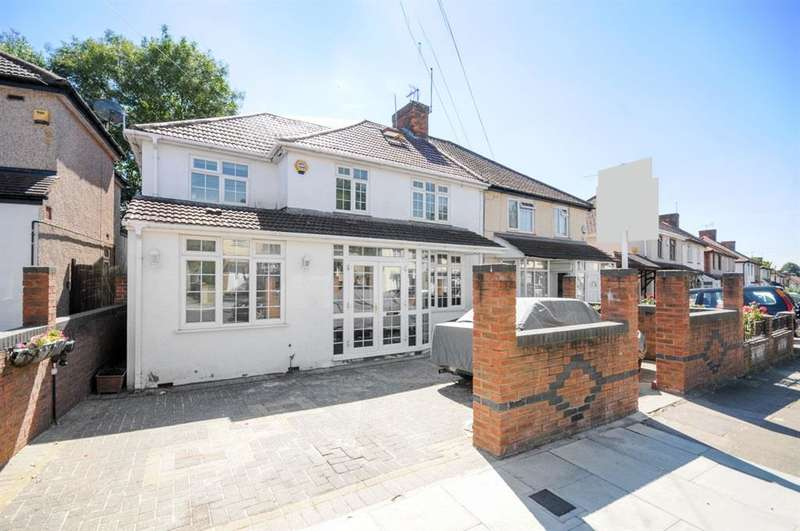 4 Bedrooms Semi Detached House for sale in Halsbury Road East, Northolt, UB5
