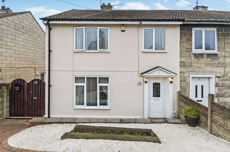 3 Bedrooms Semi Detached House for sale in 19 Skelton Avenue, Mapplewell, Barnsley, S75 6HL