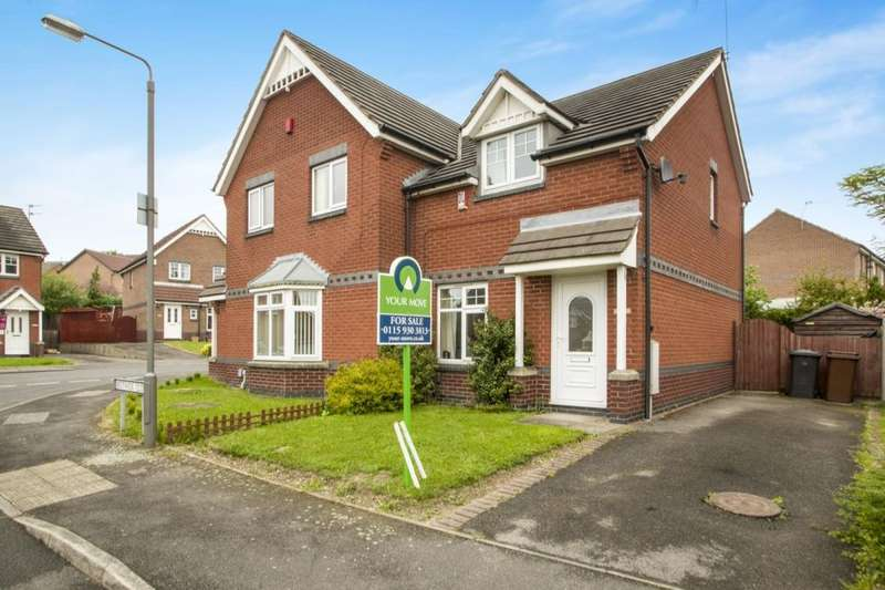 2 Bedrooms Semi Detached House for sale in Bestwick Close, Ilkeston, DE7
