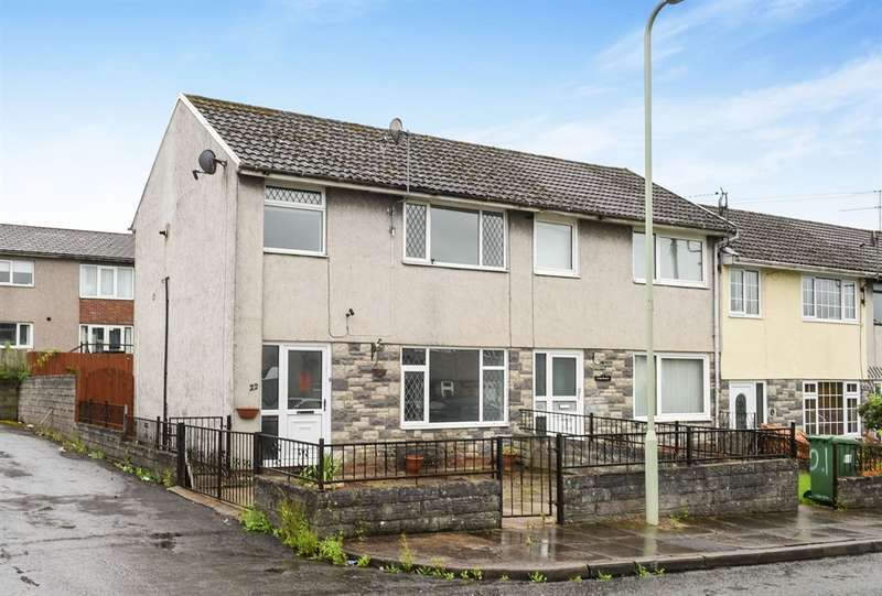 2 Bedrooms End Of Terrace House for sale in Heol Treferig, Beddau, Pontypridd