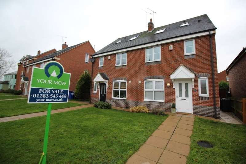 3 Bedrooms Semi Detached House for sale in Henhurst Hill, Burton-On-Trent, DE13