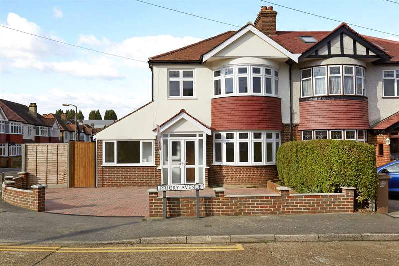 4 Bedrooms Semi Detached House for sale in Priory Avenue, Cheam, Sutton, SM3