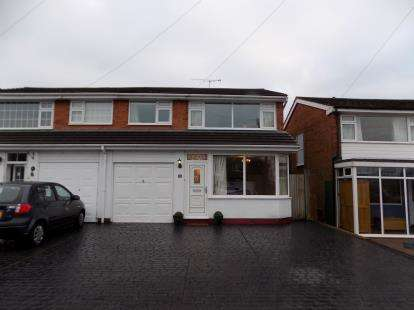 3 Bedrooms Semi Detached House for sale in Brabham Crescent, Sutton Coldfield, West Midlands