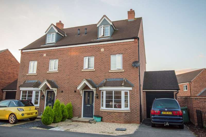 4 Bedrooms Semi Detached House for sale in Thatcham Avenue, Kingsway, Gloucester, GL2 2DN