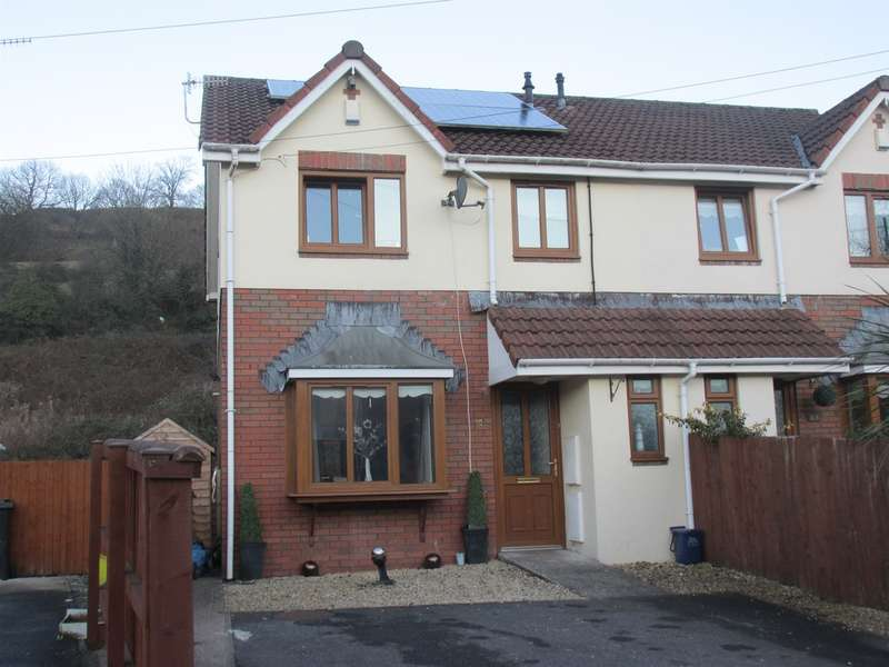 3 Bedrooms Semi Detached House for sale in Plymouth Gardens, Pentrebach, Merthyr Tydfil