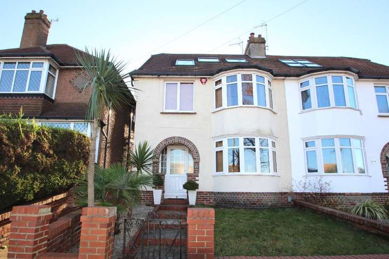 5 Bedrooms Semi Detached House for sale in Hangleton Road, Hove, East Sussex, BN3 7SF