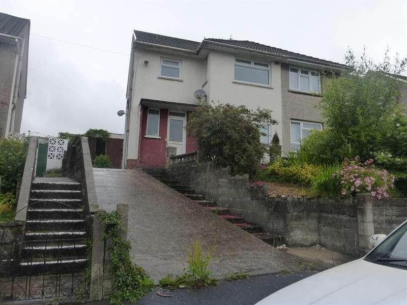 3 Bedrooms Semi Detached House for sale in Heol Y Bryn, Llangynwyd, Maesteg