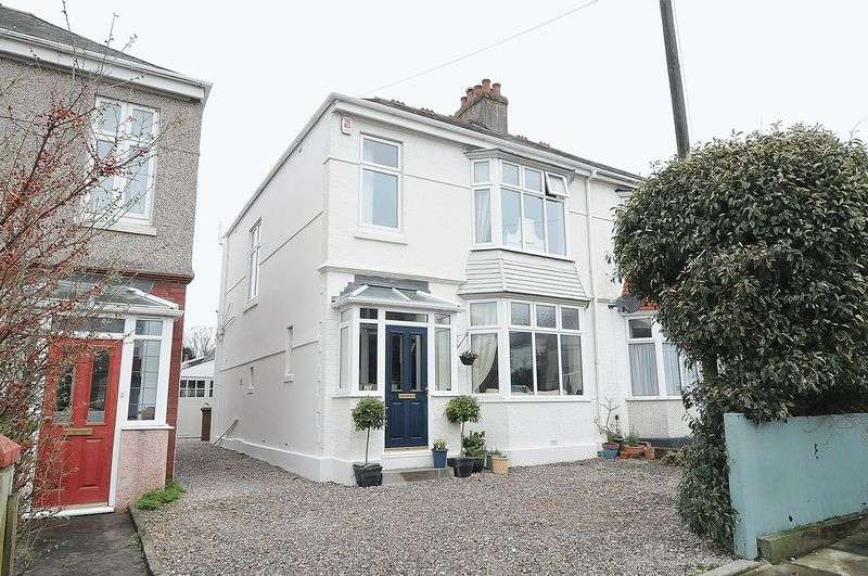 4 Bedrooms Semi Detached House for sale in Fircroft Road, Plymouth. Extended 4 Bedroom family home