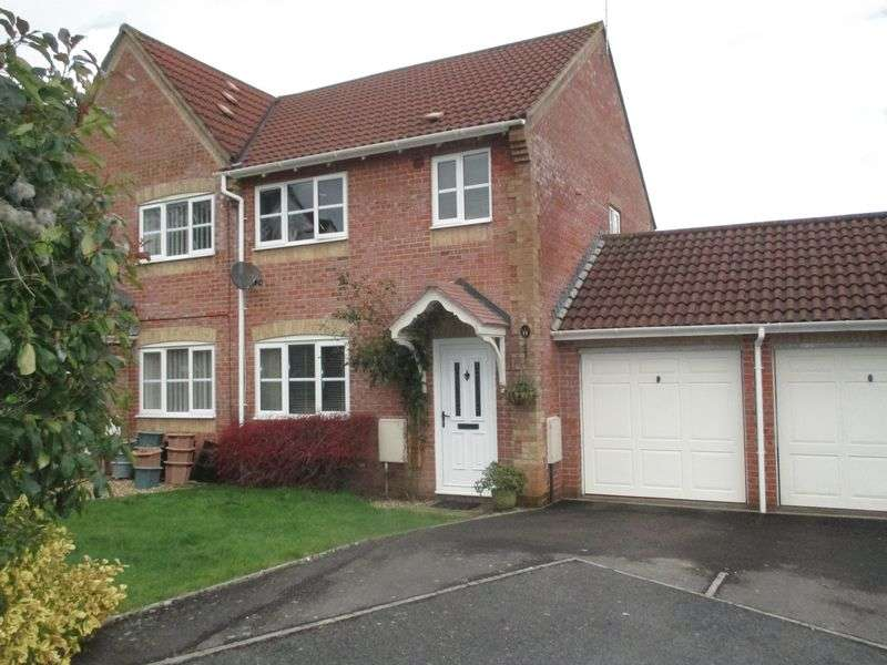 3 Bedrooms Semi Detached House for sale in Shelley Close, Yeovil