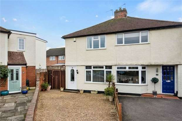 2 Bedrooms Semi Detached House for sale in Thrupps Avenue, Hersham, WALTON-ON-THAMES, Surrey