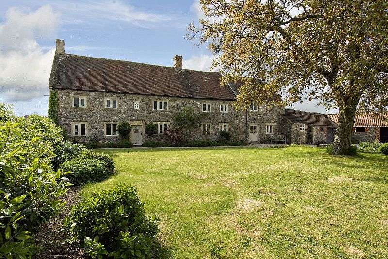 5 Bedrooms Detached House for sale in Detached 5 bed house with 3 bed cottage, stone outbuildings and land