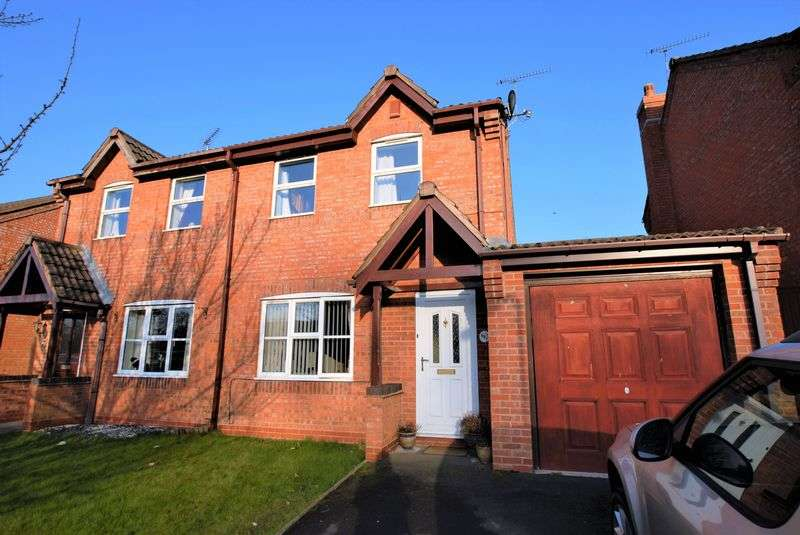 3 Bedrooms Semi Detached House for sale in Sorrel Close, Uttoxeter